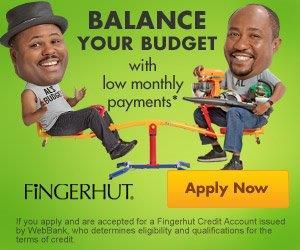 Fingerhut Credit Application